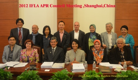 IFLA APR Council Meeting in Shanghai. Oct. 2012